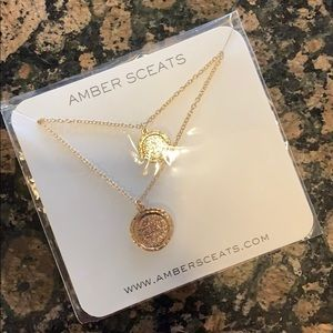 Jewelry - Amber Sceats Gold Double Coin Necklace